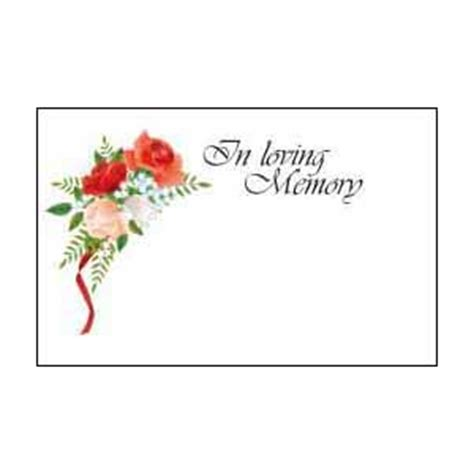 In Loving Memory Cards Template Free by Roses In Loving Memory Card Easy Florist Supplies