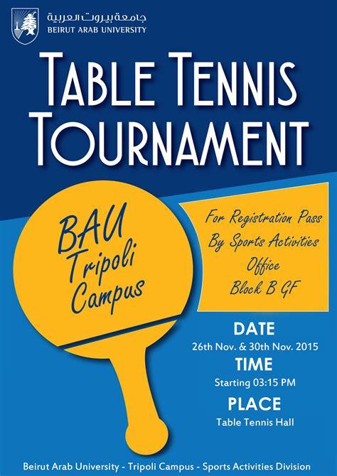 bau beirut arab table tennis tournament