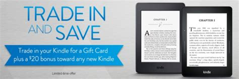 Trade In Amazon Gift Card - amazon trade in used kindle for amazon gift card get 20 towards new kindle my