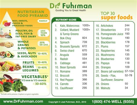 High Nuturient Dense Foods For Detox by Dr Fuhrman Nutritarian Food Pyramid Crush Cancer