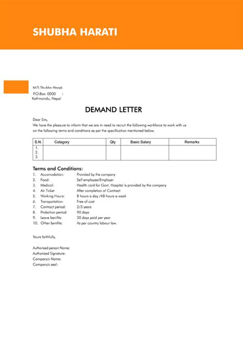Demand Letter 3rd Year Demand Letter Sle