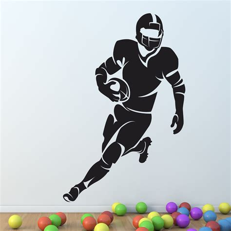 Rugby Wall Stickers american football rugby player wall sticker vinyl decal
