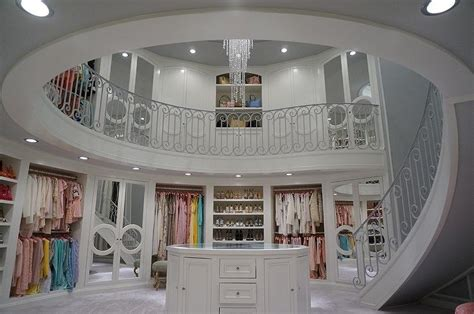 Two Story Walk In Closet by Two Level Closet Design Ideas
