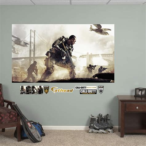 call of duty bedroom decor call of duty advanced warfare battle mural wall decal shop fathead 174 for call of