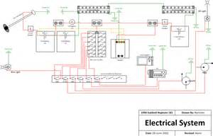 rewiring a boat diagram