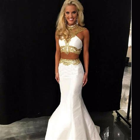 white and gold open back prom dress 2016 2017 b2b fashion backless mermaid white gold prom dresses 2016 two evening dress ebay