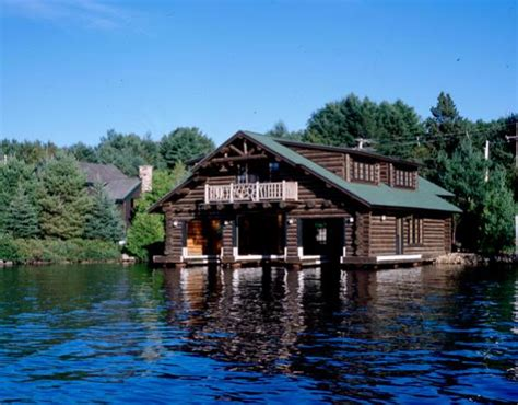 boat house lake placid lake placid boathouse custom handcrafted log homes by maple island log homes