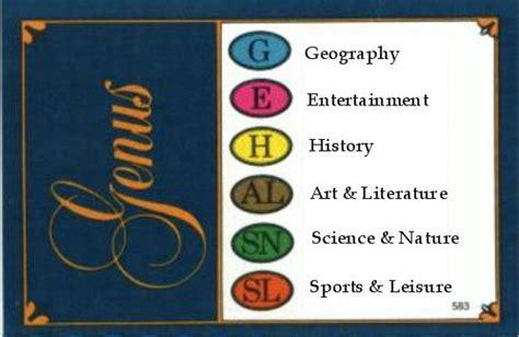 color trivia triv pursuit categories inspiration
