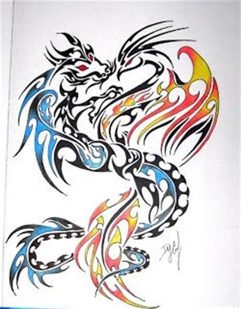dragon and phoenix tattoo designs and tattoos on