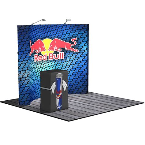 hopup 10 ft 4x3 curved tension fabric display kit apg