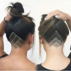 cute triangle undercut at nape nape undercut designs triangle