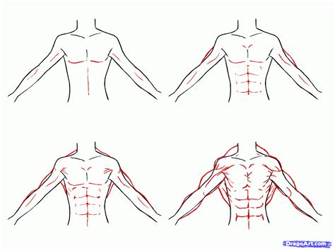 how to draw muscles anime hairstyles for guys draw anime boys step by step