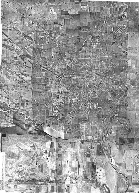 Calgary Aerial 1951 large   A stitch of about 200 photos