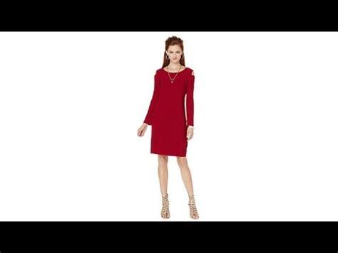 Hq 16708 Shoulder Belted Dress b longsleeve cold shoulder dress