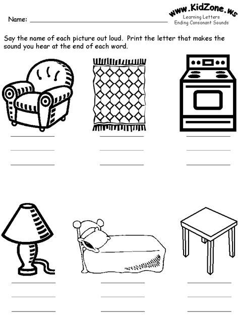 consonants review worksheets