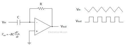 how does integrator circuit work introduction to ops and applications electronics infoline