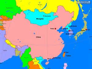 Asia Political Map by Gallery For Gt East Asia Map Political