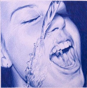 dibujos realistas boli bic juan francisco casas disegni a penna bic blu su arejar