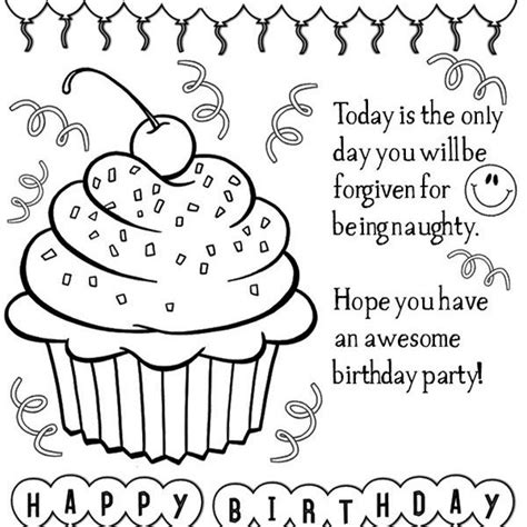 happy birthday coloring pages to print coloring birthday