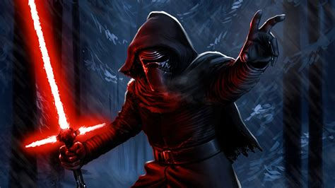 kylo ren darth vader lightsaber sith star wars hd darth