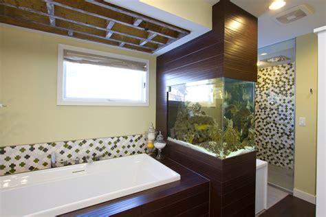 built in aquarium design built in fish tanks living room tropical with built in