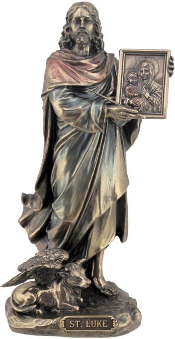 saint luke the evangelist religious figurine statue