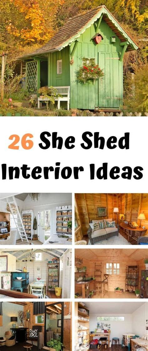 beautiful  shed interior design ideas shed