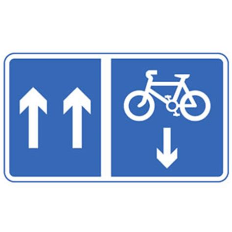 sign by flow cycle road signs driving test tips