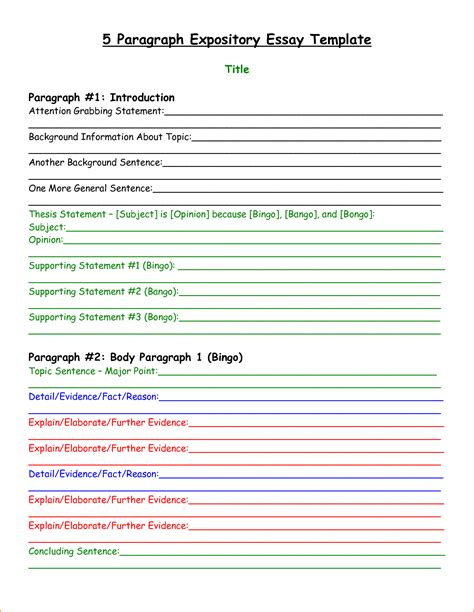 Template For 5 Paragraph Essay by 7 5 Paragraph Essay Outline Pdf Basic Appication Letter