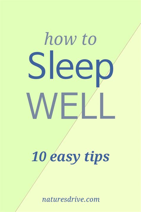 how to sleep comfortably how to sleep well 10 easy tips