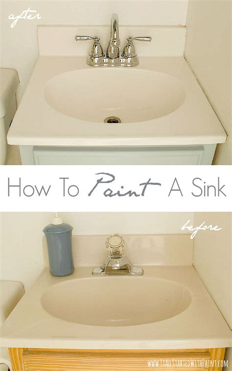 painting bathroom sink how to paint a sink hometalk