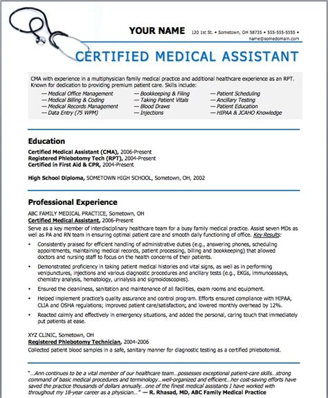 medical assistant thank you letter professional resume template