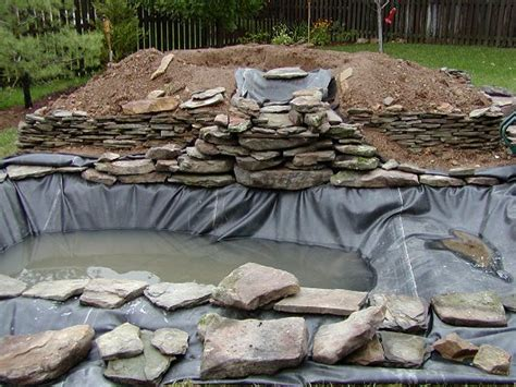 backyard pond construction outdoor waterfalls home depot 187 backyard