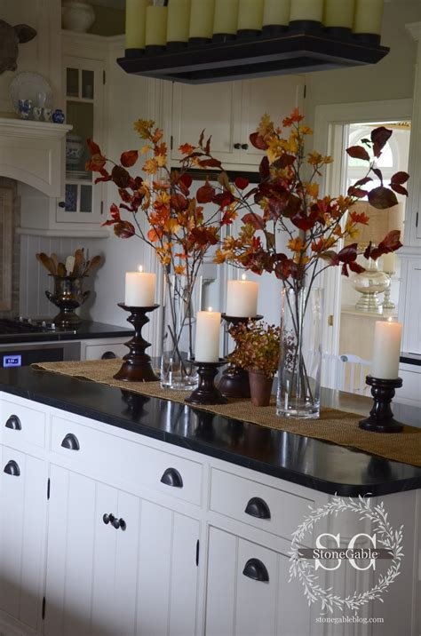 decor for kitchen island all about the details kitchen home tour stonegable