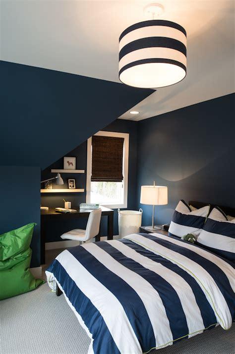 striped bedroom navy striped duvet transitional bedroom refined llc
