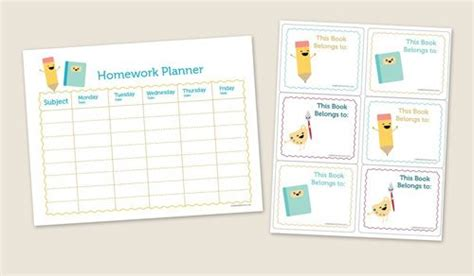 printable planners for homework printable homework planner favorite ideas pinterest
