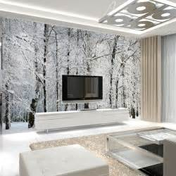 wall murals for living room large wall murals papel de parede snow birch trees forest