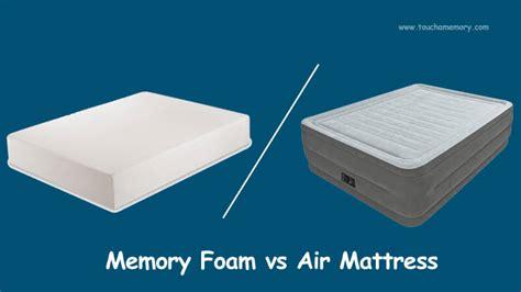 Air Mattress Vs Futon by Touch A Memory Best Memory Foam Mattress