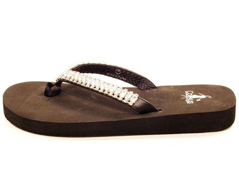 jeweled flip flop sandals womens corkys dinner jeweled flip flops sizes 6 11 black
