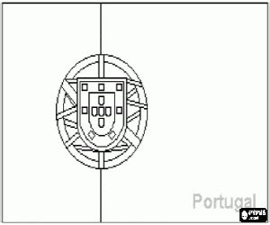 Image Portugal Flag Coloring Page Download Portugal Flag Coloring Page
