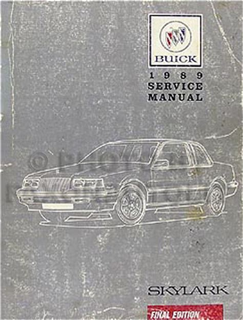 1989 buick skylark shop manual 89 original repair service book limited custom ebay