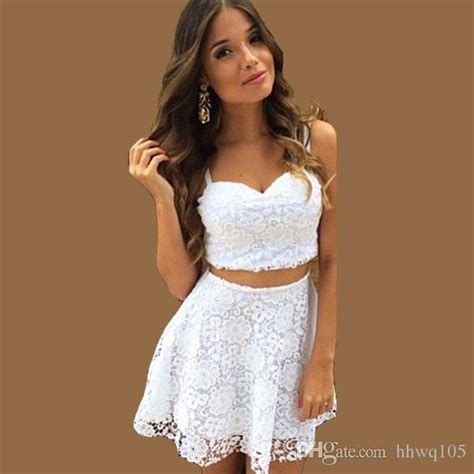 Cutie Top 2 cheap white black lace dress two