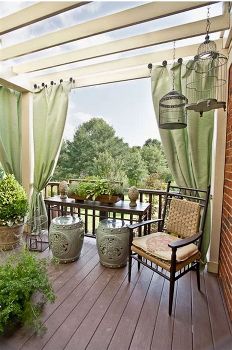 outdoor deck curtains deck with pergola and outdoor curtains