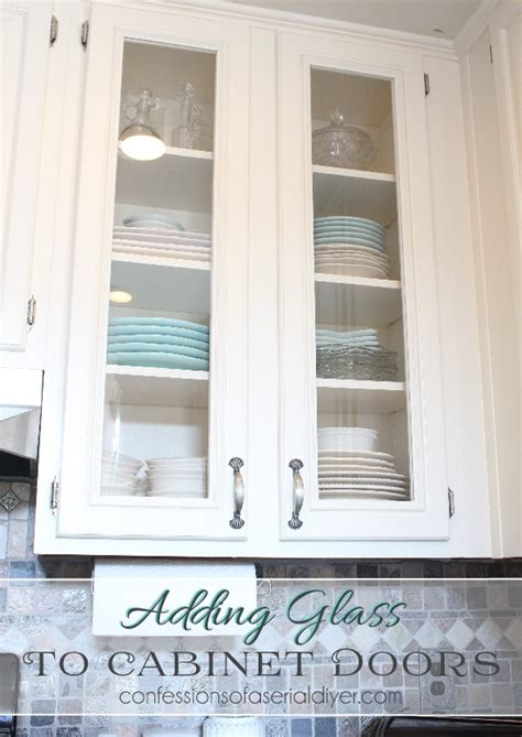 How To Add Glass To Kitchen Cabinet Doors | how to add glass to cabinet doors confessions of a