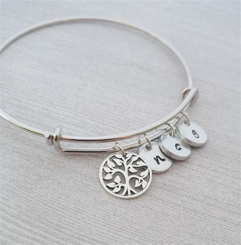 family tree bracelet personalized bangle bracelet tree of