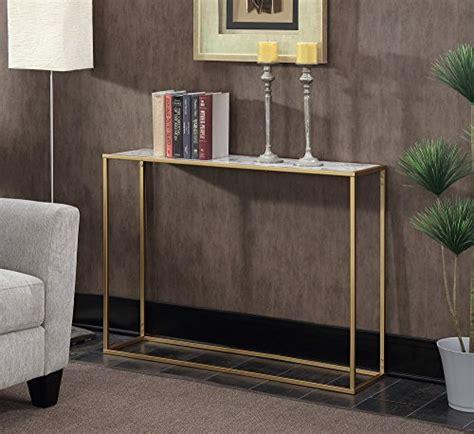 convenience concepts gold coast faux marble end table convenience concepts gold coast faux marble console table