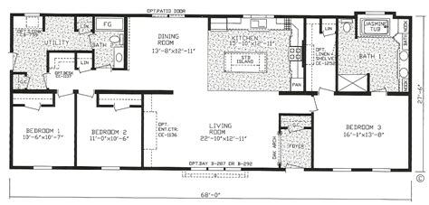 three bedroom mobile home single wide mobile home floor plans 3 bedroom