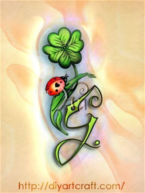 tatuaggi quadrifoglio con lettere 6 disegni fortuna e gloria maiuscole skg fabiola