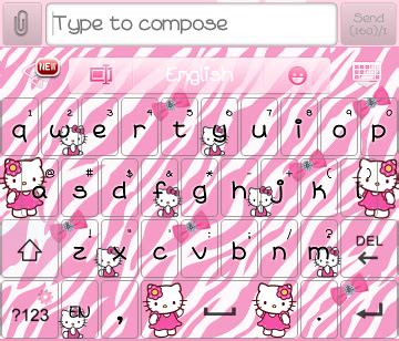hello kitty themes keyboard pretty droid themes hello kitty zebra go keyboard skin
