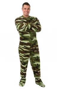 Adult footed pajamas footie drop seat camouflage mens womens pjs new